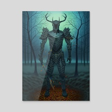 Forest Knight - Acrylic by Ben Yu