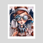 Magnified star - Art Print by Unky Lastrange
