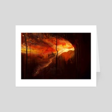Fire - Art Card by Maud Blanchard