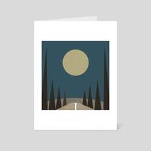 Nighttime Driving - Art Card by Tammy Kushnir