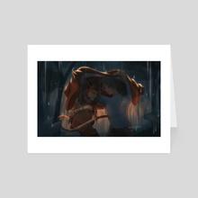 In the Rain - Art Card by Nolvini