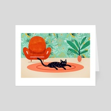 Boho Cat - Art Card by 83 Oranges