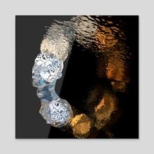 Glass Skulls and Honey  - Acrylic by Nicholas Dertien