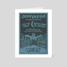 Don Diego the Wrestler - Art Card by John Morris