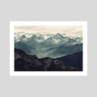 Mountain Fog - Art Print by Micaela Blondin
