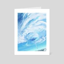 Fallen sky - Art Card by Ri Otori