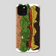 Hamburger - Phone Case by Seth Casarez
