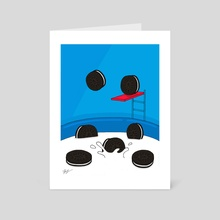 Oreo Pool Party - Art Card by Pineapple Art