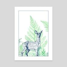 deer - Canvas by Anna Szostek