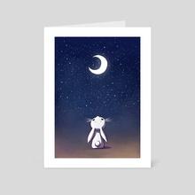 Moon Bunny - Art Card by Indré Bankauskaité