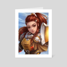 Brigitte - Art Card by Daria Dzyuba