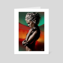 Girl profile study - Art Card by Thomas BIGNON