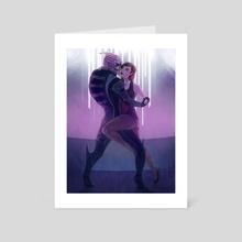 Garrus and Shepard - Art Card by Elizabeth Blundell