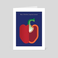 Vegetable: Bell Pepper - Art Card by Christopher Dina