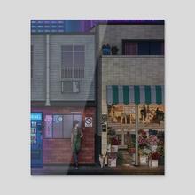 Nightshift - Acrylic by Kelsey Smith