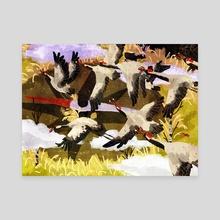 bird migration - Canvas by Lara Paulussen