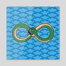 Ouroboros III - Acrylic by Ken Taylor