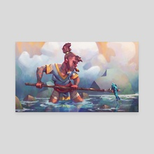 fisherman - Canvas by Womk