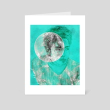Take Me To The Moon - Art Card by Xanthe Russell