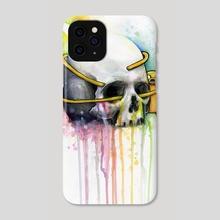 Jake the Dog  Hugging Skull Adventure Time Watercolor Art - Phone Case by Olga Shvartsur