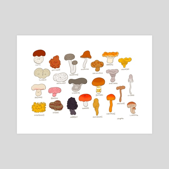mushrooms by George Mager