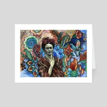 Frida - Scared Garden. - Art Card by Fanitsa Art