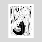 Anja Riding Hood - Art Print by S. L. Spaulding