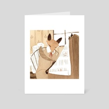 Fox Scribe - Art Card by Vanessa Gillings