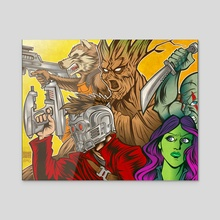 Guardians of the Galaxy - Acrylic by Ryan Genovese