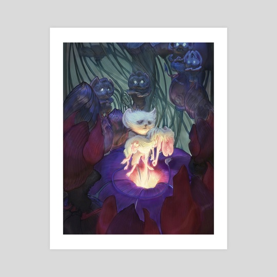 (8x10in print) (12x15in print) Shadow's Light: Burial Scene by Jacob Mobley