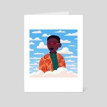 Head in the Clouds - Art Card by Keisha Okafor