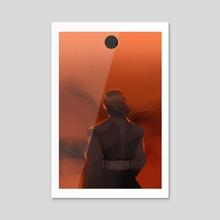 Anakin's eclipse - Acrylic by Daria Romanova