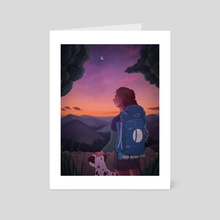 Mountain sunset - Art Card by radi0karl