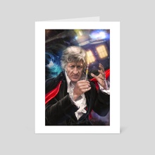 3rd Doctor Who - Art Card by Josh Burns