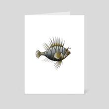 Grey Fish - Art Card by Adam Lindsay Honsinger