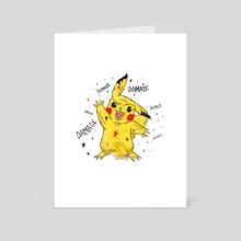 Pika Pika - Art Card by damage label