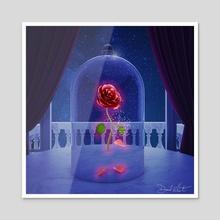 Enchanted Rose - Acrylic by David Valentin