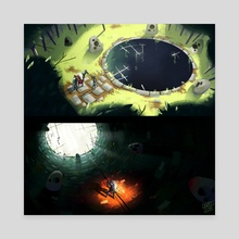 Epic quest: The hole  - Canvas by Charles Lemor