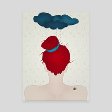 Under a dark cloud (part of the I am Magic series) - Canvas by Sybille Sterk
