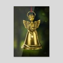 Angel Bell - Acrylic by Eda Herz