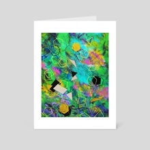 Abstract painting - Art Card by Nika Akin