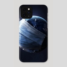 Earth Mask - Phone Case by Justin Peters