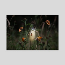 Butterfly fairy - Canvas by Christina Groth-Biswas
