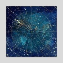 star map :: city lights - Canvas by Jenny Lloyd