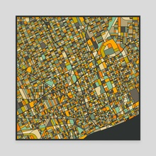 Detroit Map 2 - Canvas by Jazzberry Blue