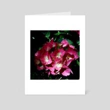 Magenta Hydrangea Bouquet - Art Card by Gabriela Handal