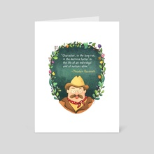 Teddy Roosevelt - Art Card by Maple Lam