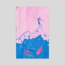 Surfing Queen - Canvas by Alexandra Glenn-Collins