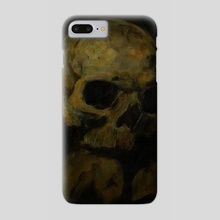 Skull Study Original Painting - Phone Case by Guy Gondron