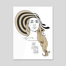 Like a Pepsi Cola (Lana Del Rey tribute) - Gold edition - Acrylic by Davide Zamberlan